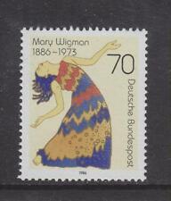 1986 GERMANIA OVEST Gomma integra, non linguellato TIMBRO Deutsche Bundespost Mary WIGMAN Ballerina SG 2147