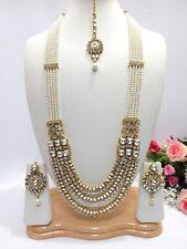 INDIAN BRIDAL asiatici gioielli partito etnico Wear Rani Haar Collana Set