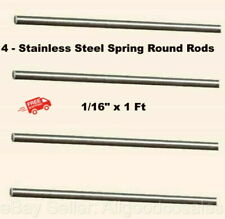 Stainless Steel Spring Round Stock 4 Lengths 116 X 1 Ft 302 Alloy Rods