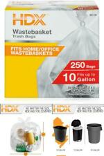 Versatile Convenient Trash Bags 10 Gal High Density Material Clear Waste Liner
