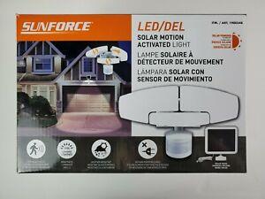Sunforce LED Solar Motion Security Light 1500 Lumens Adjustable Heads Open box