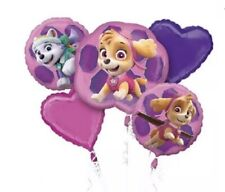 Paw Patrol Pink Mylar  5pc.  Balloon Bouquet