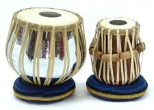 TABLA WOODEN STEEL PLATING MADE WITH CIRCULAR RING STAND+CASE BOX +FREE SHIPPING