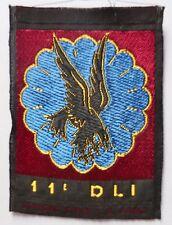 Tissu 11° DLI Parachutiste Algérie 1961 Division Légère Intervention -LEGION TAP