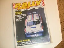 Rally Sport Rallysport October 1986 Manx Devils Own Argentina Mewla Border