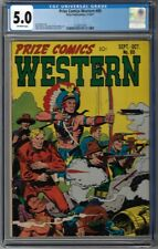 CGC 5.0 PRIZE COMICS WESTERN #89 AWESOME JOHN SEVERIN AMERICAN EAGLE COVER 1951