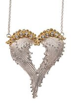 Forgiveness Heart Necklace: A heart so free it's made of wings-Be your own angel