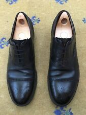 Gucci Mens Shoes Black Leather Lace Up UK 11 US 12 EU 45 11.5 12.5 45.5