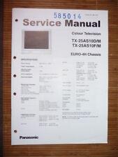 Panasonic REPARACION DE MANUAL DE SERVICIO tx-25as10 televisión, original