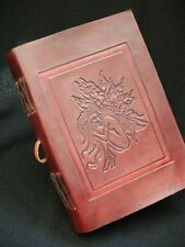 CELTIC FAIRY Pagan Wicca Handmade Leather Journal Book of Shadows Grimoire Diary