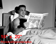 """Rocky Marciano~Heavyweight Champion~W/Paper~Boxing~P oster~Photo~16"""" x 20"""""""
