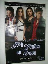 KABHI LAVIDA NAA KEHNA 2006 Shah Rukh Khan Rani Amitabh Preity Poster Bollywood