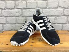 ADIDAS UK 3 EU 35.5 NAVY WHITE SUEDE LA TRAINER TRAINERS RRP £67