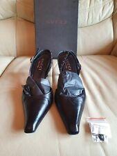 Ladies Gucci Black Shoes Black Heels   UK  3     Eur  36 Boxed