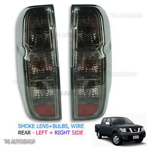 Fits Nissan D40 Navara Frontier 2006 - 2013 Back Tail Rear Light Lamp Smoke Lens