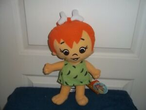 PEBBLES FLINTSTONE PLUSH DOLL WITH TAGS BY TOY FACTORY - 13 INCHES TALL
