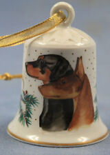 Doberman pinscher Porzellan glocke figur porzellan weihnachtsglocke 60