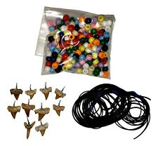 Make Your Own Fossil Shark Tooth Necklace Kit - Set of 10 - Easy to Make!