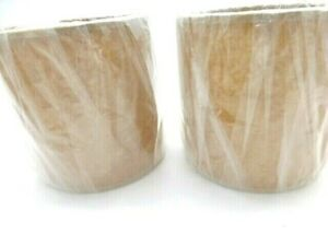 """New Oiled Parchment Allure Drum Style Chandelier Lamp Shades Tan 4"""" X 4"""" X4"""""""