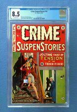 CRIME SUSPENSTORIES #18 CGC 8.5 VF+ OFF-WHITE PAGES E.C. COMICS GOLDEN AGE
