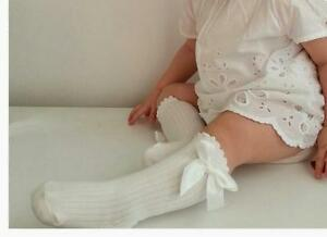Baby Knee High Socks & Girl Knee High Socks with Bow fit 0-2 Years and 2-4 Years