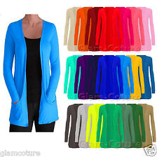 WOMENS LADIES LONG SLEEVE BOYFRIEND CARDIGAN WITH POCKETS PLUS SIZES 8--26 e0b5a4347