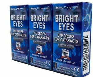 Ethos Eye Drops for Cataracts Powerful Super Vision Antioxidant 3 Boxes 30ml