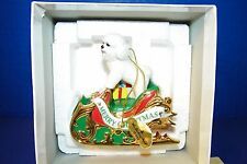 Christmas Ornament Danbury Mint Bichon Frise Puppy Dog 2006 Santa's Helper 1st