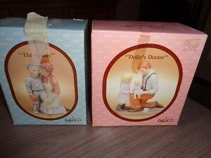 Lot 2 Enesco Dolly's Doctor &  The Healer Figurines Treasured Memories