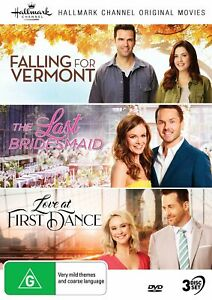 HALLMARK 3 Film Collection DVD Falling for Vermont The Last Bridesmaid