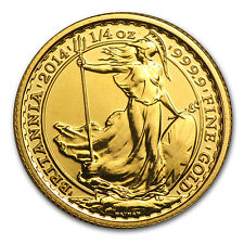 2014 Great Britain 1/4 oz Gold Britannia BU