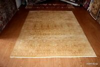 FINE QUALITY 8' X 10' HANDMADE hand knotted RUG Soft beige gold color Oriental