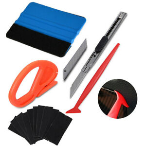 6 in 1 Car Vinyl Wrapping Tools Kit Pro Window Tint Tuck Gasket Squeegee