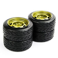4X Tyres Tires & Wheel For 1:10 Scale HPI HSP Drift RC Car PP0292+PP0147