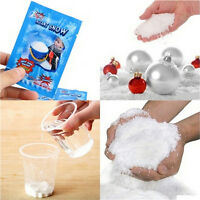 4 packs Fake Magic Instant Snow For Sensory Play Frozen Wedding Xmas Decor wc