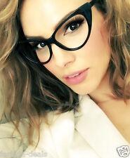 Retro Vintage Big Cat Eye Black Clear Lens Women Eyeglasses Glasses Nikita