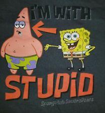 XL Vintage 2002 Spongebob Squarepants I'm With Stupid T-shirt Patrick Nicktoon