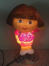 DORA THE EXPLORER-PLASTIC TABLE ELECTRIC NIGHT LIGHT LAMP-WORKS GREAT!