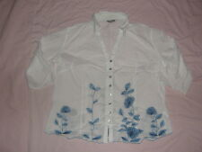"""Womans Patterned Shirt Pur Una Chest 42"""" 34 Sleeve"""