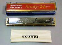 Harmonica - Suzuki study-24 Tremolo 24 C#  Key of C#  24Holes  Japan brand