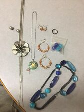Joblot Of Costume Jewellery Earrings , Necklaces And Bracelets