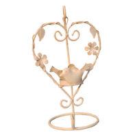 Iron Heart Shaped Candlestick Wedding Decor Birdcage Candle Holder White