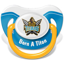 Gold Coast Titans Baby Dummy, 6 mth+, *BNIP*