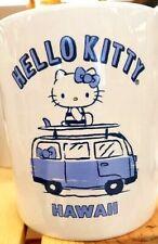 HELLO KITTY ALOHA HAWAII Coffee Mug Cup White and Blue **LIMITED-HAWAII**