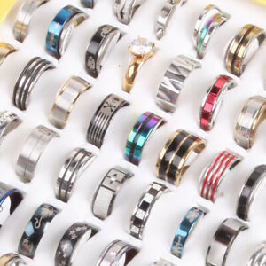 Fashion 30pcs/Lot Mix Men's Women's Stainless Steel Jewelry Party Gift Rings