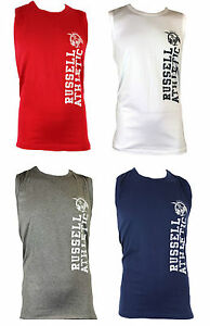 New Men's Russell Athletic Eagle Logo Sleeveless T-Shirt Vest Top