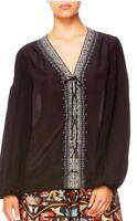 Camilla Franks Size XS Lace Up Top BNWT Silk Elegant Fit Size 8-10