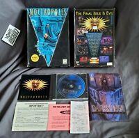 Noctropolis PC Big Box Game Flashpoint EA w/ Original 90s Receipt  - Very Rare