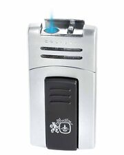 Colibri 412002 Quantum Syndicate Single Flame Cigar Lighter Satin Silver Silver