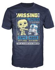 Star Wars Missing Droids C-3PO & R2-D2 Poster Funko Pop! Tees 51